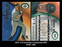 2001 E-X Essential Credentials #59