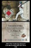 2001 Fleer Authority Diamond Cuts Memorabilia #82 Bat Glove
