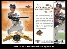 2001 Fleer Authority Seal of Approval #4