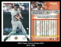 2001 Fleer Focus Green #73