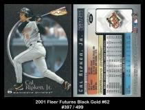 2001 Fleer Futures Black Gold #62