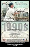 2001 Fleer Premium Decades of Excellence Autographs #15