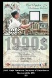 2001 Fleer Premium Decades of Excellence Memorabilia #15
