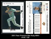 2001 Fleer Premium Star Ruby #SR1