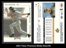 2001 Fleer Premium White Rose #4