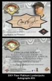 2001 Fleer Platinum Lumberjacks Autographs #23