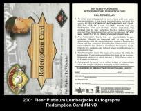 2001 Fleer Platinum Lumberjacks Redemption Card #NNO