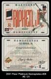 2001 Fleer Platinum Nameplates #26