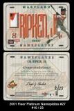 2001 Fleer Platinum Nameplates #27