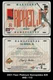 2001 Fleer Platinum Nameplates #28