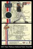 2001 Fleer Platinum National Patch Time #45