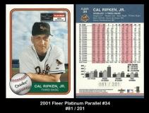 2001 Fleer Platinum Parallel #34