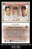 2001 Fleer Platinum Winning Combinations #28