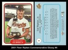 2001 FLeer Ripken Commemorative Glossy #4