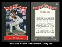 2001 Fleer RIpken Commemorative Glossy #25