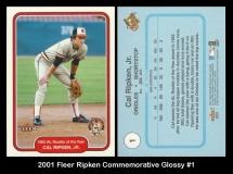 2001 Fleer Ripken Commemorative Glossy #1