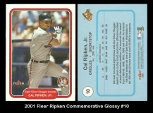 2001 Fleer Ripken Commemorative Glossy #10