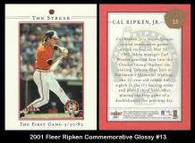 2001 Fleer Ripken Commemorative Glossy #13
