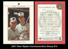 2001 Fleer Ripken Commemorative Glossy #14