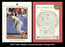 2001 Fleer Ripken Commemorative Glossy #15