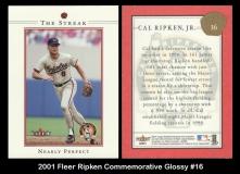 2001 Fleer Ripken Commemorative Glossy #16
