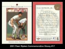 2001 Fleer Ripken Commemorative Glossy #17