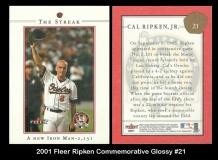 2001 Fleer Ripken Commemorative Glossy #21