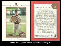2001 Fleer Ripken Commemorative Glossy #22