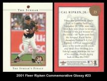2001 Fleer Ripken Commemorative Glossy #23