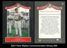 2001 Fleer Ripken Commemorative Glossy #26