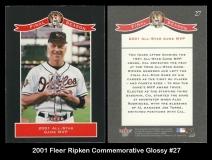 2001 Fleer Ripken Commemorative Glossy #27