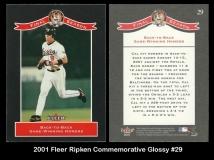 2001 Fleer Ripken Commemorative Glossy #29