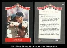 2001 Fleer Ripken Commemorative Glossy #30