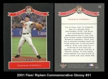 2001 Fleer Ripken Commemorative Glossy #31