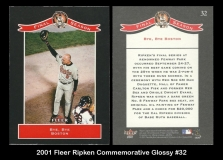 2001 Fleer Ripken Commemorative Glossy #32