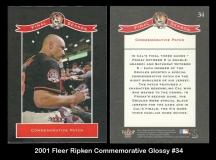 2001 Fleer Ripken Commemorative Glossy #34