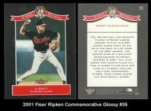 2001 Fleer Ripken Commemorative Glossy #35