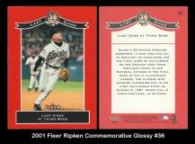 2001 Fleer Ripken Commemorative Glossy #36