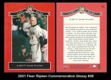 2001 Fleer Ripken Commemorative Glossy #38