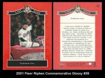 2001 Fleer Ripken Commemorative Glossy #39
