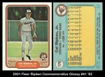 2001 Fleer Ripken Commemorative Glossy #41 '82