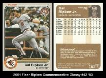 2001 Fleer Ripken Commemorative Glossy #42 '83