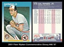2001 Fleer Ripken Commemorative Glossy #46 '87