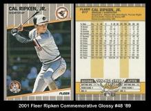 2001 Fleer Ripken Commemorative Glossy #48 '89