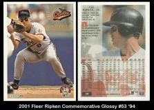 2001 Fleer Ripken Commemorative Glossy #53 '94