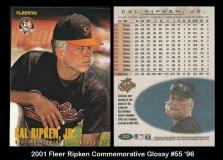 2001 Fleer Ripken Commemorative Glossy #55 '96