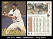 2001 Fleer Ripken Commemorative Glossy #56 '97
