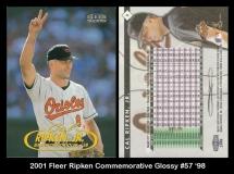 2001 Fleer Ripken Commemorative Glossy #57 '98