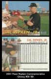 2001 Fleer Ripken Commemorative Glossy #58 '99