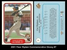 2001 Fleer Ripken Commemorative Glossy #7